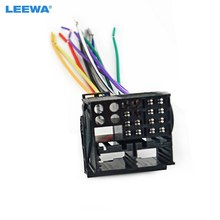 LEEWA Factory Radio Stereo Installation Reverse Male Wire Wiring Harness Plug RCD510/310 For Audi/BWM/Volkswagen/Mini/Dodge(China)