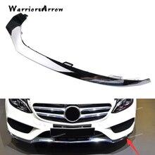 WarriorsArrow левый переднего бампера нижняя хром литья Накладка для Mercedes W205 C300 C450 C220 C180 C200 2058851374