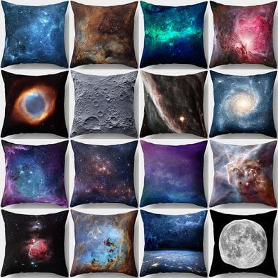3D Galaxy Copertura del Cuscino Universo Spazio Esterno A Tema federa copripiumi