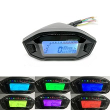 WINTUWAY Universal Motorcycle LCD Digital 13000rpm Speedometer Odometer Backlight For 2,4 Cylinders Meter