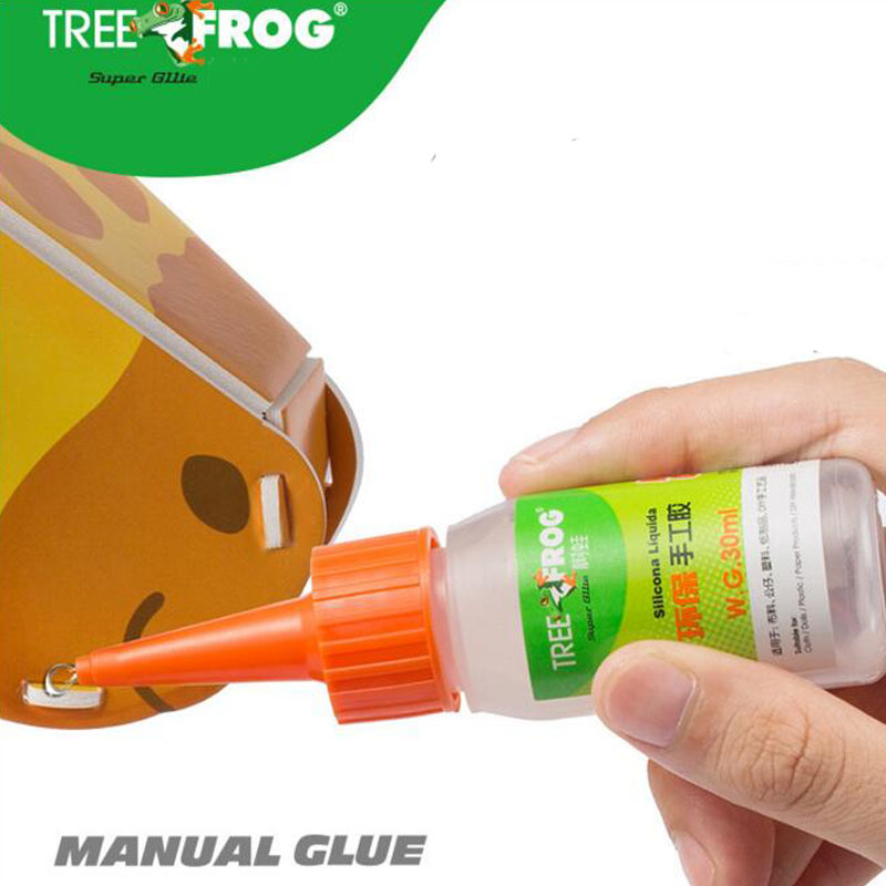 Tree Frog High Quality 30ml Manual Glue Liquid Silicon Glue Environmental Protection Touch Adhesive For Fabric Diy Craft Toys