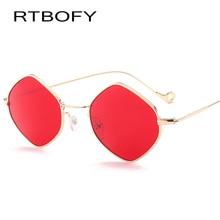 Фотография RTBOFY Brand Triangle Sunglasses Women Alloy Frame Red Mirror UV400 Glasses Art Deco Europe Punk Classic Retro Cool Gafas De Sol