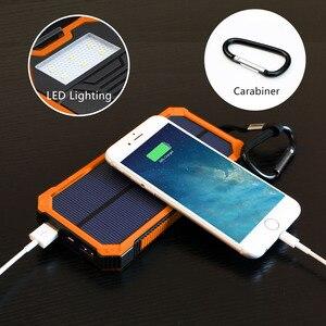 Image 4 - 15000 mah portátil banco de energia solar ao ar livre carregador de bateria externa para iphone samsung smartphone xiaomi acampamento ao ar livre