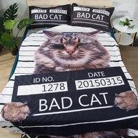 Irregular Cartoon Fashion Summer Thin Quilt Children/Adult Printed Animal Cat Individuality Polyester fiber Boy Girl Unisex