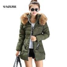 2017 new Winter Fashion Women Down jacket Zipper Hair Collar Good Quality Parkas Warm Elegant Casual Parka Women Plus Size 4XL