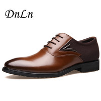 Size 47 48 Fashion PU Leather Men Dress Shoes Pointed Toe Oxfords Shoes For Men Lace Up Designer Luxury Men Shoes ND50