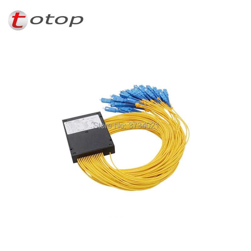 SC UPC PLC 1X32 Single mode LC fiber optic splitter 1x32 SC UPC plc splitter/ 1x32 plc Fiber splitter FBT Optical Couple