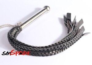 65cm metalowy korek analny uchwyt skórzany bicz z 7 plecionymi ogonami, skórzany flogger z uchwytem dildo sex bat zabawki dla par