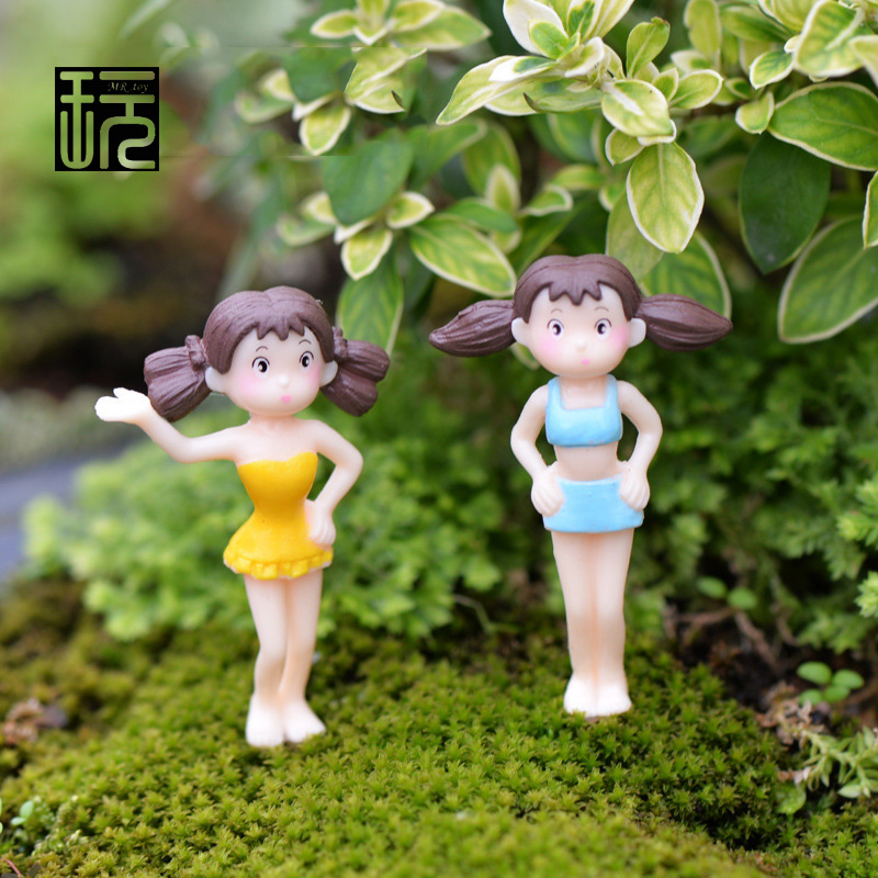 multi styles summer girls beach bikini may terrarium figurines fairy garden miniatures mini action figure home decor toys gift - Fairy Garden Miniatures