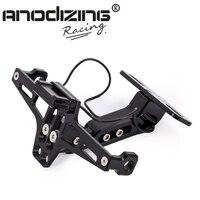 Motorcycle Adjustable Angle Aluminum License Number Plate Frame Holder Bracket Universal