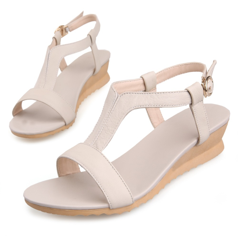 Flat heel sandals images - Women Genuine Leather White Sandals Toddler Girl Flat Heel Sandals Ankle Strap Flip Flop Shoes Feminino Sapatos Sandalias Mujer In Women S Sandals From