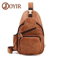JOYIR New High Capacity Genuine Leather Chest Bags Men Crossbody Travel Shoulder Bag Phone Sling Pack bolso hombre