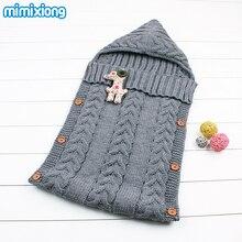Coton Enveloppe Pour Les Nouveau-nés À Tricoter Motif Chaud Bébé Sacs de Couchage D'hiver Poussette Swaddle Wrap Couvertures Infantile Sac de Sommeil