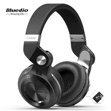 Bluedio T2plus (Shooting Brake) Bluetooth stereo headphones wireless headphones Bluetooth 5 0 headset over the Ear headphones cheap Dynamic CN(Origin) 110±2dbdB 1 5Mm HiFi Headphone User Manual Charging Cable 3 5mm Jack Adapter 16ΩΩ With Microphone