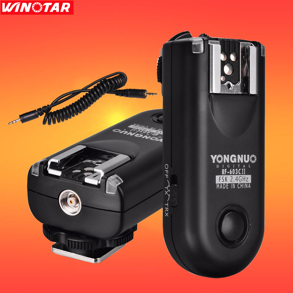 YONGNUO RF 603 II C1 Radio Wireless Remote Flash Trigger for Canon 800D 760D 750D 700D