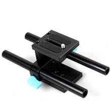 15mm Ray Rod Destek Sistemi Taban Plakası Dağı DSLR Takip Odak Teçhizat 5D2 5D3