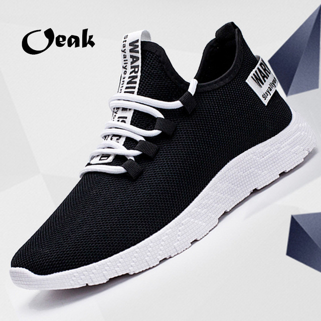 2019 New Mesh Men Casual Shoes Lac-up Men Shoes Lightweight Comfortable Breathable Walking Sneakers Tenis Feminino Zapatos FI