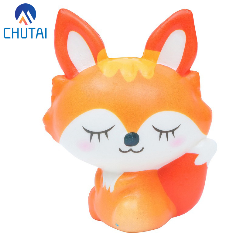 Kawaii Lovely Fox Squishy Slow Rising Cream Scented Decompression Stress Relief Squeeze Toys Antistress Squishies 12*10CM