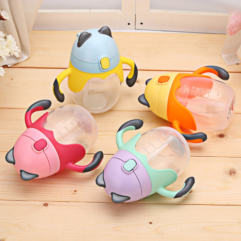 360 Degrees Rotated With Double Handle Trainning Feeding Safe Leakproof Cup Infant Water Bottle
