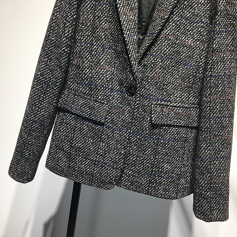 Women S Plaid Blazers Spring 2018 New Korean Chic Retro Wool Suit