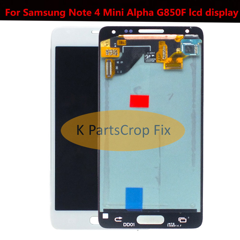 100 Tested Super AMOLED LCD for Samsung Note 4 Mini Alpha G850 G850F G850M G850K LCD