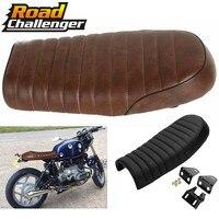 Motorcycle Cafe Racer Seat Scrambler Vintage Flat Saddle Flat pan Retro Seat For Honda CB350 CB450 CB750 CB200