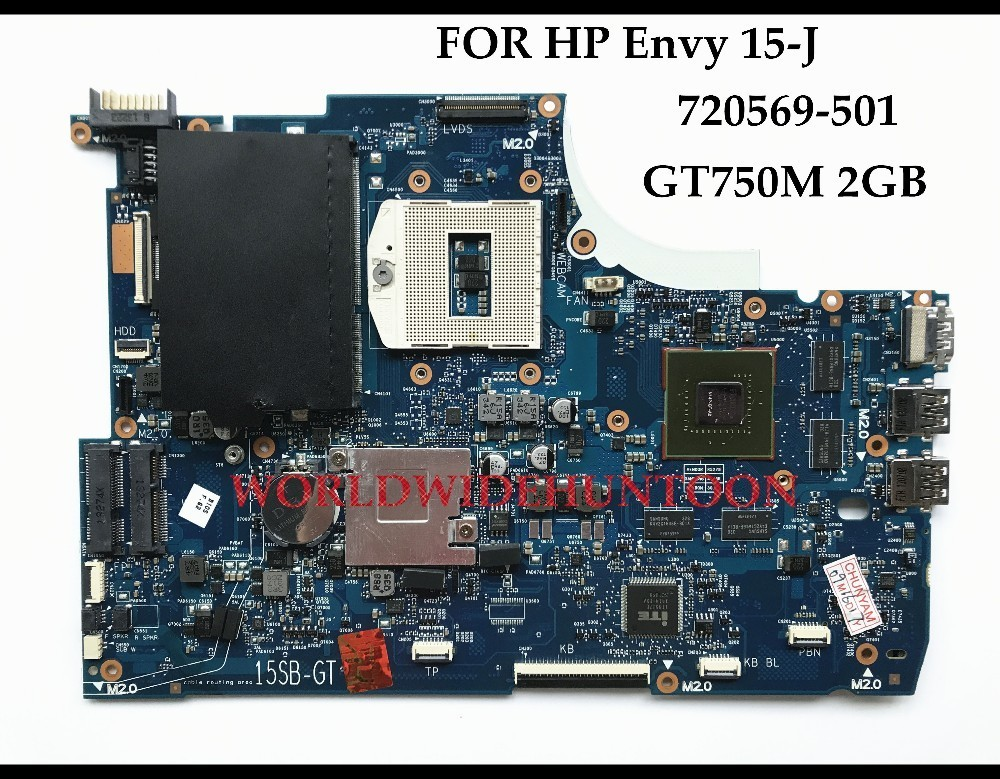Wholesale High quality For HP Touchsmart Envy 15-J Laptop Motherboard 720569-501 PGA947 DDR3 HM87 GT750M 2GB 100% Fully Tested 744009 501 744009 001 for hp probook 640 g1 650 g1 motherboard socket 947 hm87 ddr3l tested working