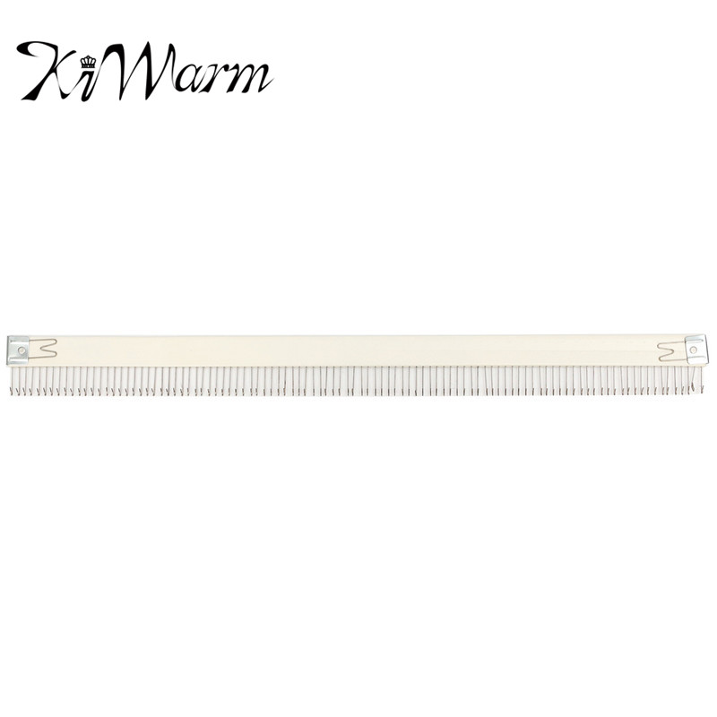 KiWarm Practical 18''/46cm Stainless Steel Silver Cast On Comb Knitting Machine For All 4.5mm/9mm Knitting Machine