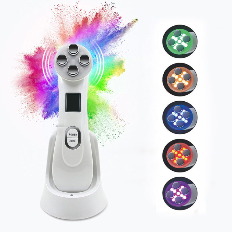 LED Photon Skin Rejuvenation EMS Mesotherapy Electroporation Facial RF Radio Frequency Skin Care Tighten Lifting Massage Machine face skin ems mesotherapy electroporation rf radio frequency facial led photon skin care device face lift tighten beauty machine