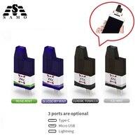 4pcs phone vape 700 Puffs Disposable portable Fruits Flavor hookah vs shisha pod Vape Stick Pen type c lighting micro