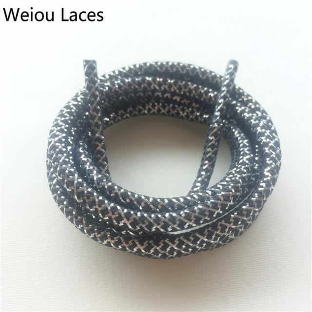 Weiou Hot Nero Argento Corda ~ Lacci Sneaker Shoe Laces ~ all ingrosso  Metallic 49f55cc5a85