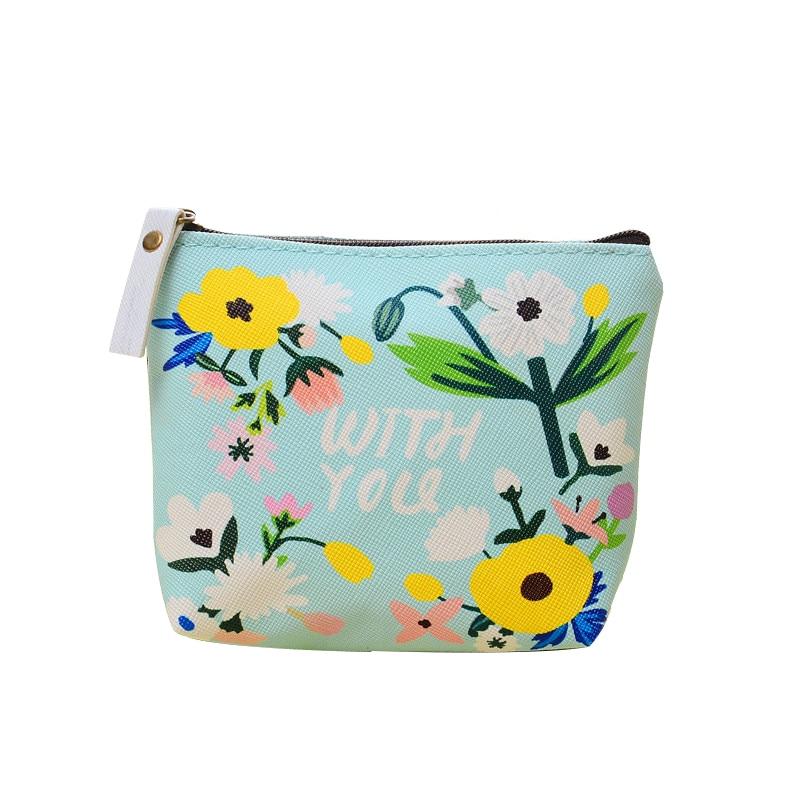Мода 2017 г. ткань молния кошелек Kawaii кошелек мини сумки наушники милый цветок Дизайн наушники поле Y01