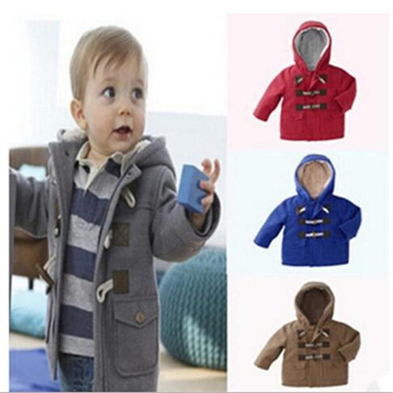 2019 új téli fiúk meleg felsőruházat Baby fiúk divatos pamut színű négyszínű ruha dzseki Gyerekek sűrűsödik kabát 1-6 éves