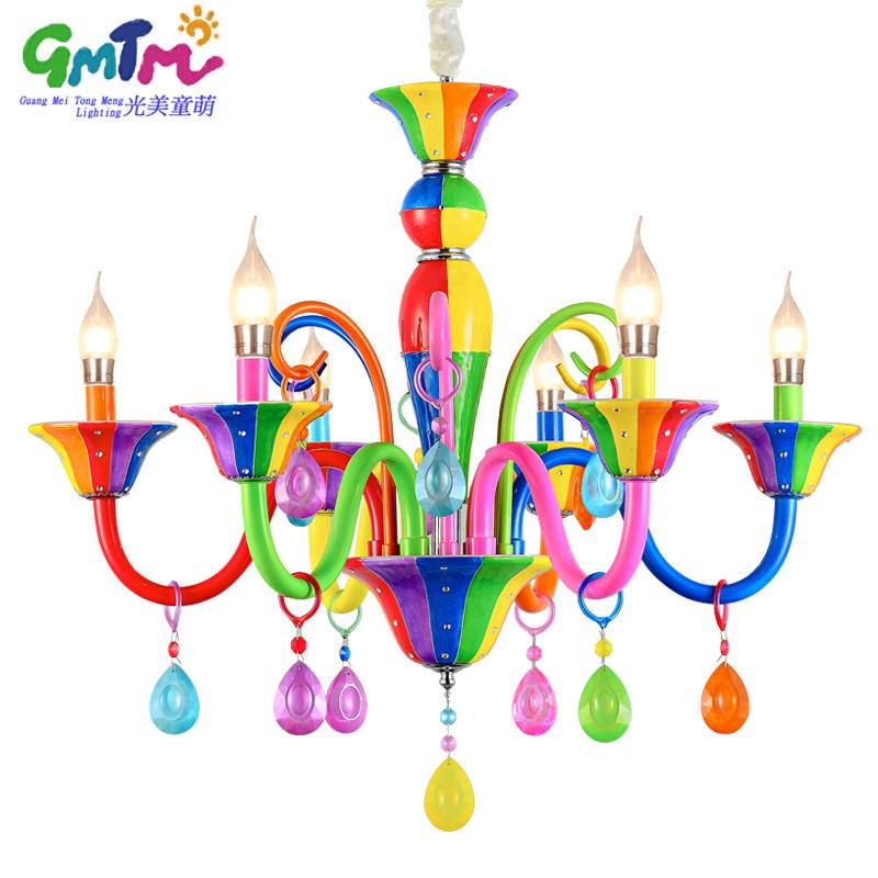 pintura a mano de colores de techo de cristal de princesa ngel nios sala de lmparas