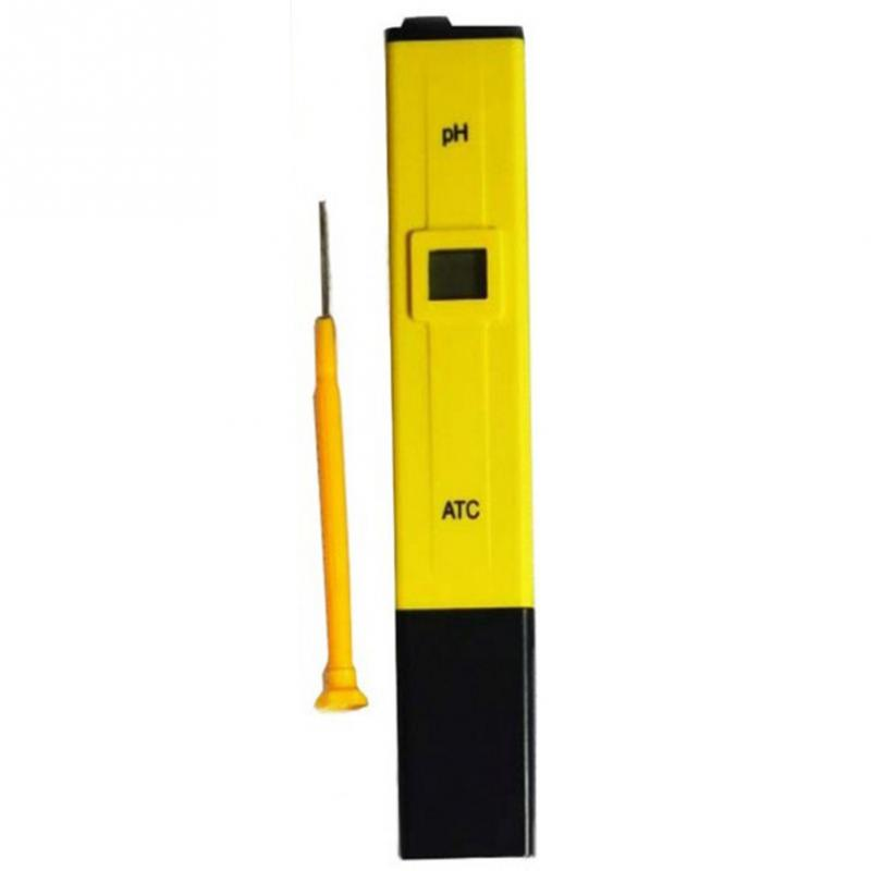 HOT Mini Yellow Portable Digital PH Tester Meter Pocket Pen Aquarium Pool Water Digital Tester цена