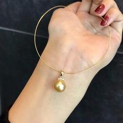 Luxus echtem G18K Gold Zubehör Mode Perle Anhänger Einstellungen Erkenntnisse Anhänger Halterungen Frauen Zubehör Weibliche Jewwelry