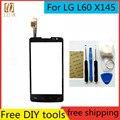 Бесплатные Инструменты для ПОДЕЛОК + Оригинальный Новый Сенсорный Экран Для LG L60 X145 стекло Емкостный датчик Для LG L60 X145 Touch Screen panel черный