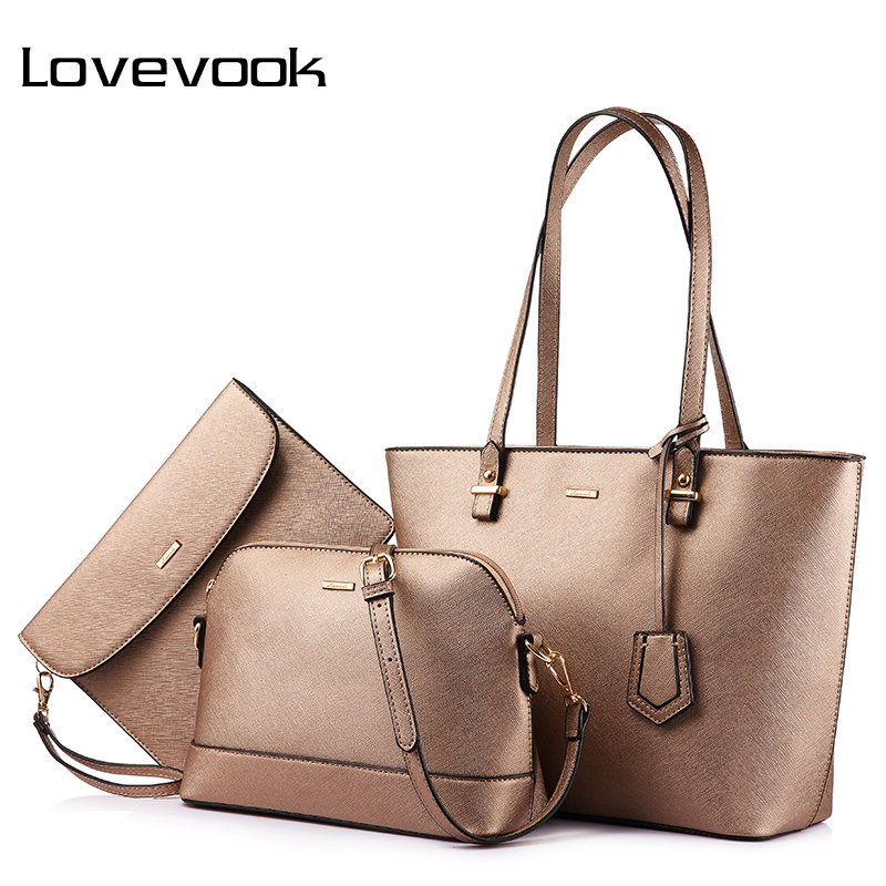 LOVEVOOK Handbag Women Shoulder Bags Designer Crossbody Bag Female Large Tote Bag Set 3 Big Luxury Small Purse And Handbag 2019