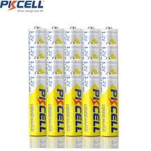 20 piezas PKCELL NIMH AA 1300 mAh 1,2 V NI-MH batería recargable 2A pilas recargables aa para KTV micrófono juguetes