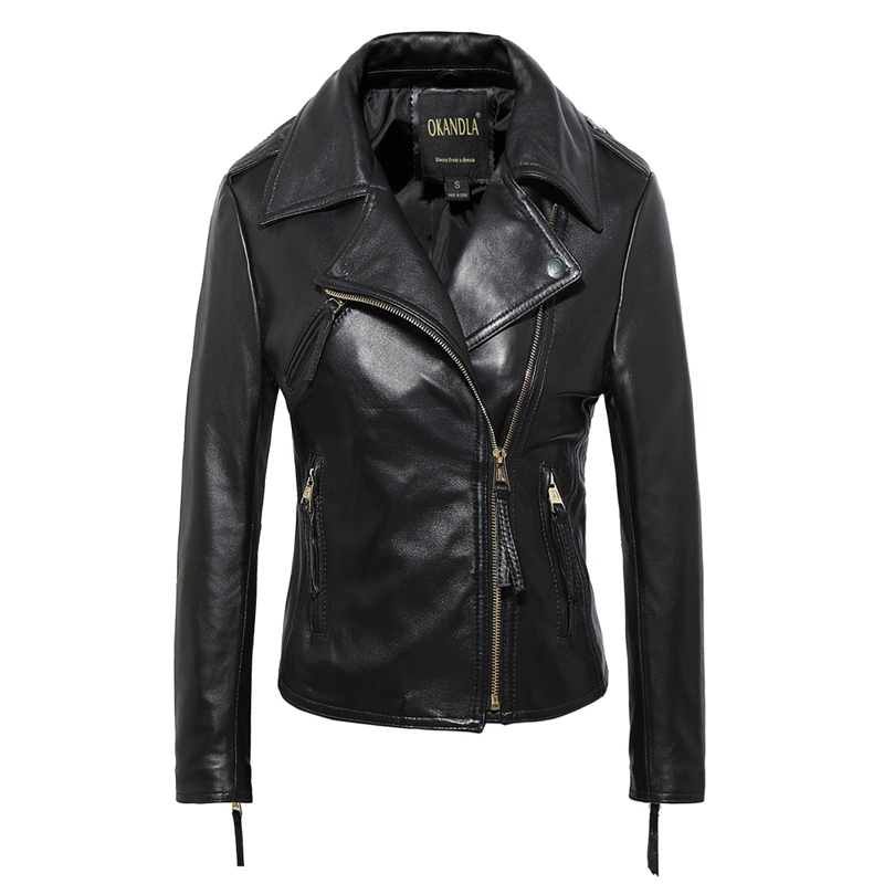 Free shipping,Brand simple style Genuine leather womens casual jackets.plus size soft sheepskin jacket,sales.slim clothing free shipping classics brand cow leather clothing man s 100