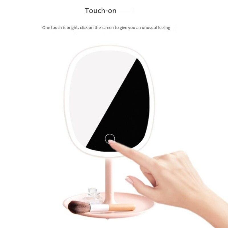 Креативное настольное вращающееся туалетное зеркало с лампой зеркало для макияжа умная зарядка светодио дный получение светодиодного зер
