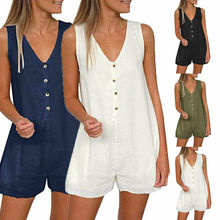 New Women Ladies Clubwear Shorts Playsuit Bodycon Party Jumpsuit Romper Trousers S-XL women lady button clubwear summer playsuit bodycon party jumpsuit romper shorts