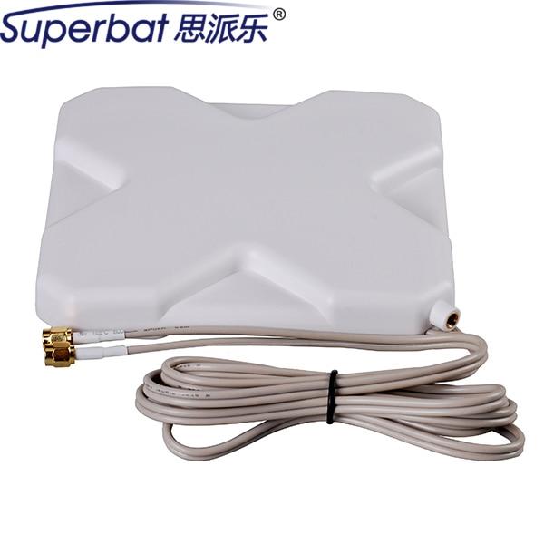Superbat 698-960/1710-2690 mhz 220*190*21mm 4g antena 35dbi booster sma doble zet antena antena macho para huawei módem usb