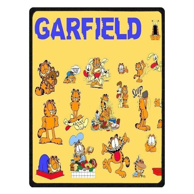 Garfield Coral Fleece Sofa Throw Blanket Winter Bed Sheet Bedspread Customized Kids Manta Drop Ship Home Textile Blankets Aliexpress