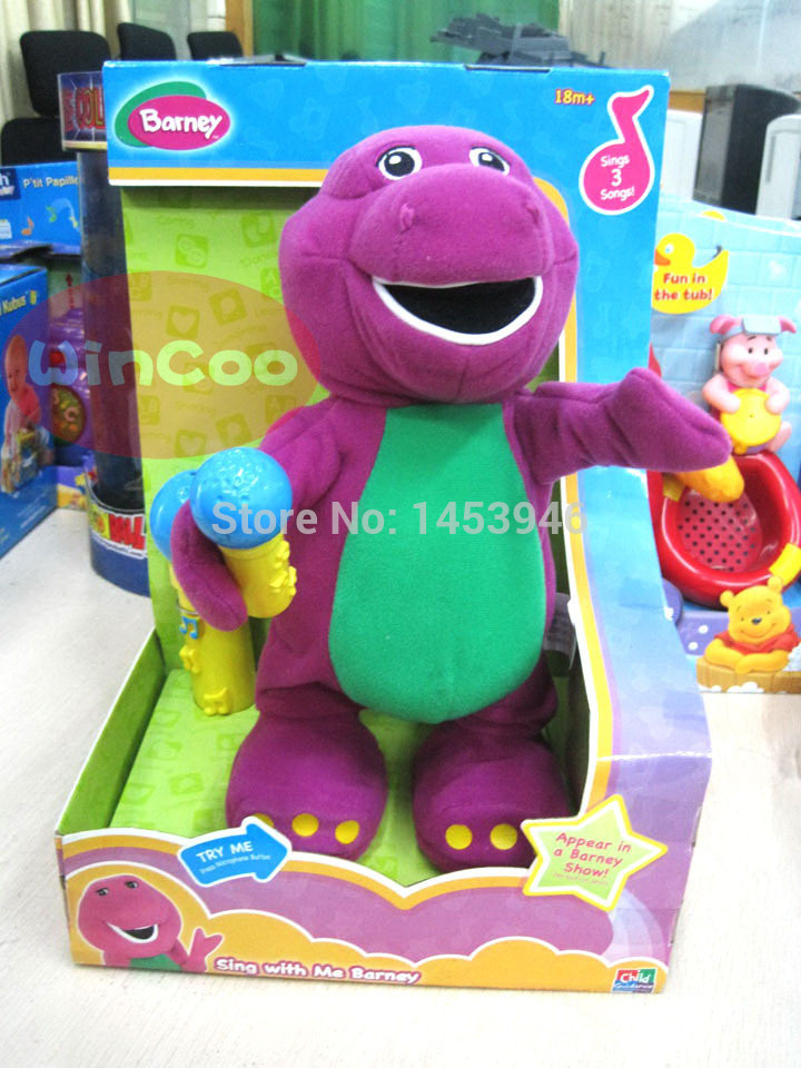 1 PCS High quality 33 cm Kawaii Barney can sing dance educational ...