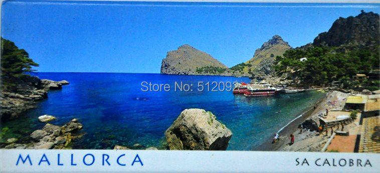 SPANIEN MALLORCA Rechteck Mittelmeer Ozean Metall Kühlschrank - Wohnkultur - Foto 4