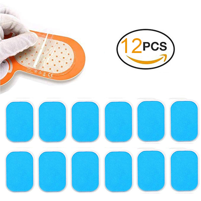 12PCS Hydrogel Sticker Replacement Pads AbS EMS Abdominal Muscle Stimulator Gel Trainer  Fitness Body Massager Exercise Patch