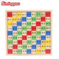 Simingyou Multi Purpose Digital Jigsaw Puzzle For Children S Educational Montessori Wooden Toys SG05