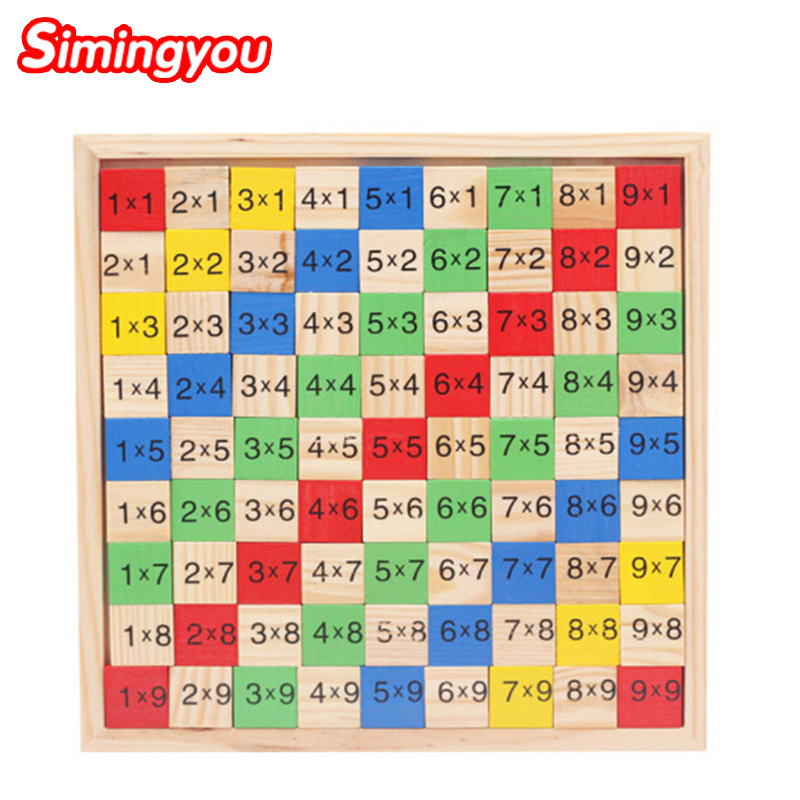 Simingyou Puzzle For Children Multi Purpose Digital Jigsaw Educational Montessori Wooden Toys SG05