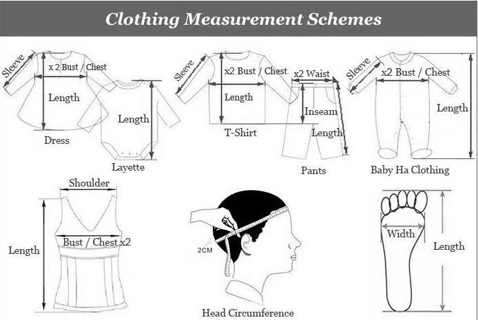 clothing measurement schemes